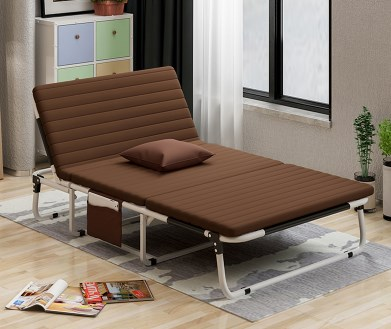 New Three Folding Sheets People Double Nap Simple Home Accompanying Nanny Adult Recliner Office Lunch Bed