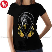 Scorpion T-Shirt Mortal Kombat T Shirt Trendy Large Women tshirt 100 Cotton O Neck Ladies Tee Shirt