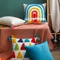 Прошивная процесс Радуга Цвет для диванных подушек, наволочки для подушек размером 45*45 Декоративные Чехлы для подушек подушка чехол для див...