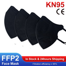 FFP2 Mask Black Face Masks KN95 Mouth Protective Filter FFP2mask Mascarillas ffp2reutilizable Cover Fpp2 Mascherina Ffpp2 Masque