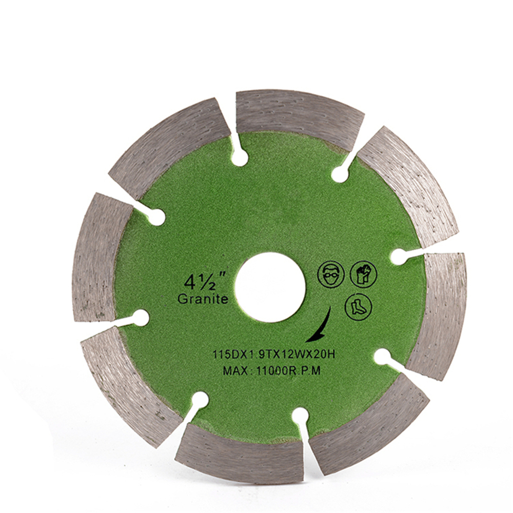 DB29 Sintered Segmented Diamond Blades 4.5 Inch Hot Press Cutting Wheel With 8 Segments For Hard Stone Cutting 10PCS