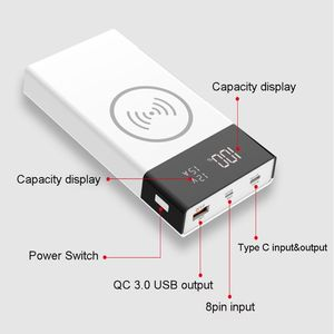 Image 3 - New 6x 18650 Battery DIY Qi Wireless Charger QC3.0 USB Type C PD Power Bank Box Case