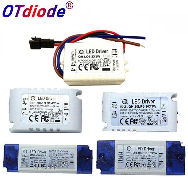 High PF Constant Current LED Driver 600mA 3W 10W 20W 30W 40W 50W 60W1-2x3w 6-10x3w 10-18x3w 18-30x3W Lamp Lighting Transformers