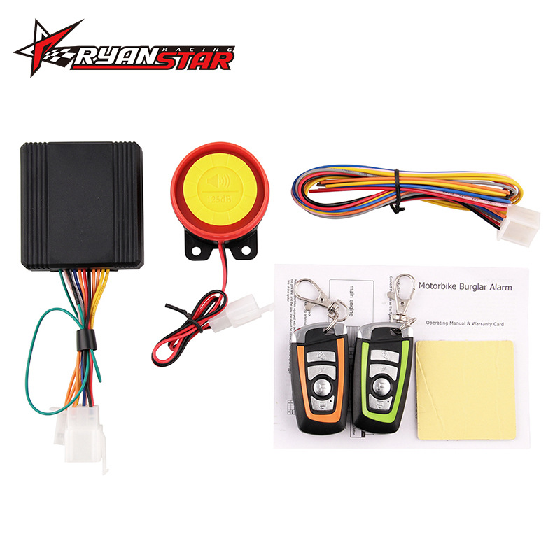Cross Border Hot Sales Motorcycle Anti-theft Alarm 12V Universal Accessories Protection Motor Remote Control Engine Start