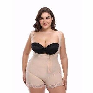 Image 3 - Mulher corpo inteiro shaper shapewear powernet emagrecimento briefs butt lift barriga controle cintura trainer bodysuit lingerie mais tamanho