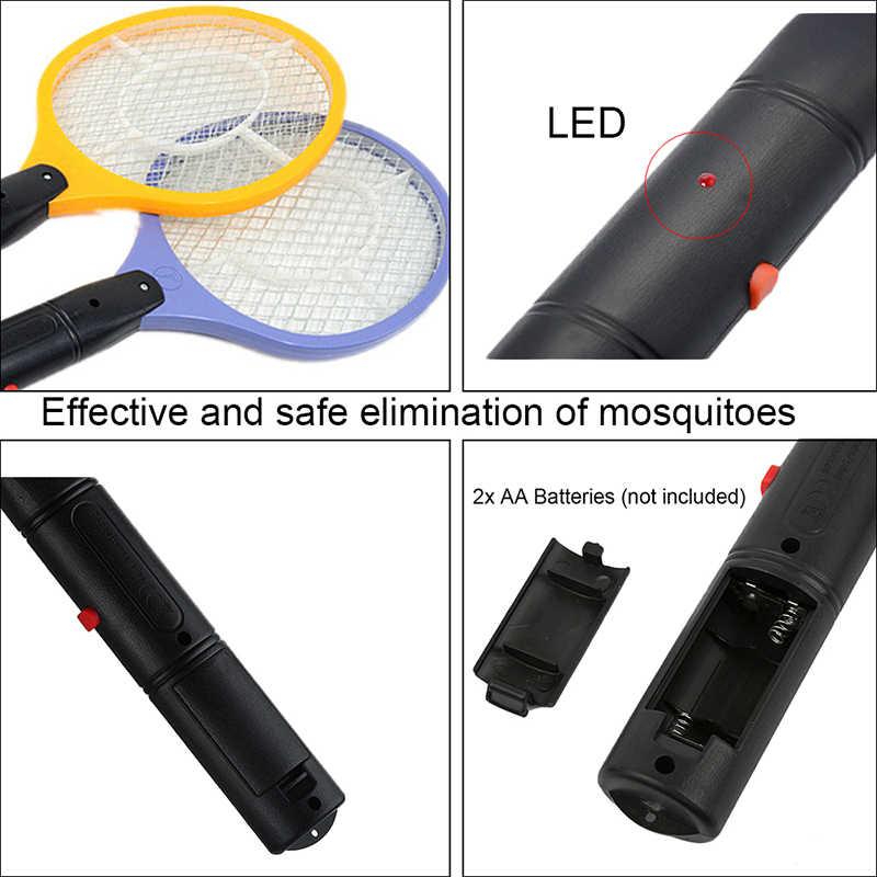 Ev elektrikli sinek sivrisinek böcek tuzağı sineklik sivrisinek katili güvenlik örgü akülü Anti böcek sivrisinek AA pil kullanın Zapper