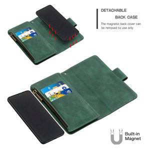 Image 4 - Skórzany portfel odpinany magnes powrót Shell dla Samsung S20 FE etui z klapką Samsung Galaxy S 20 Ultra S10 Plus S9 S10E telefon pokrywa