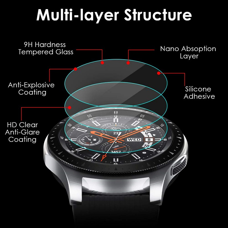 3pcs Tempered Glass For Huawei Watch GT 2 46mm protective Glass For huawei GT2 band Screen Protector Film Smartwatch accessories 2