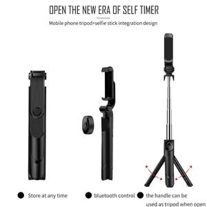 Image 2 - Besegad Opvouwbaar Bluetooth Handheld Selfie Statief Telefoon Standhouder Uitschuifbare Voor Android Ios Smartphone Statief