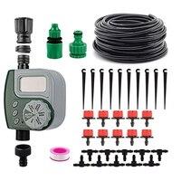 Mini automático sistema de irrigação por gotejamento jardim spray de irrigação auto kits de rega