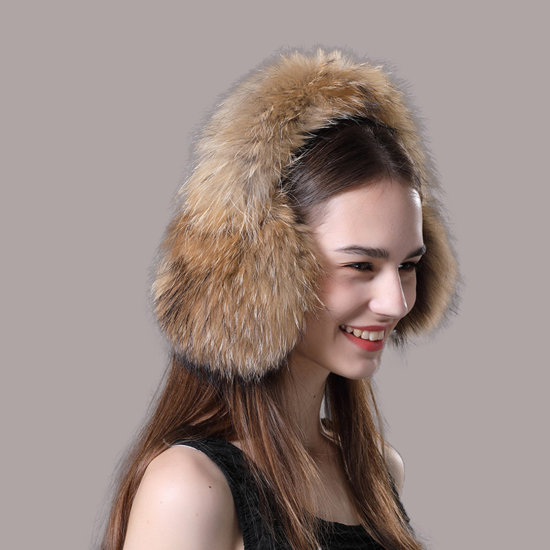Winter Women's Earmuffs Real Fox Fur Earmuffs Warm And Comfortable Winter Earmuffs Wear Ear Pads Hot Ladies Adjustable