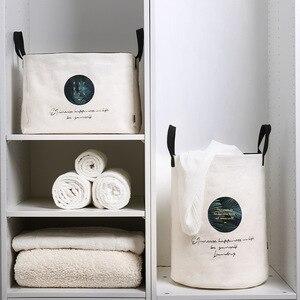 Image 4 - 세탁 바구니 접는 더러운 옷 대용량 저장 상자 주최자 세탁 패션 스타일 YORO