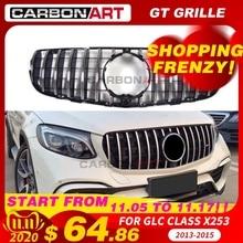 11,11 GLC X253 AMG Стиль передняя гонка сетка гриль для MB X253 GLC200 GLC250 GLC300 GlC450 спортивная версия серебристый 2016 +