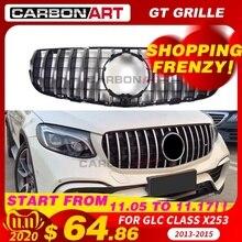 11.11 GLC X253 AMG style avant course grille grillagée pour MB X253 GLC200 GLC250 GLC300 GlC450 Sport Version argent 2016 +