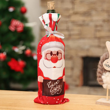 New Year Xmas DIY christmas decorations Red Wine Bottle Cover Decorations Christmas Party Santa Claus Snowman Reindeer Gift Bags
