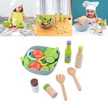 Faire des salades jouets jeu Simulation cuisine Fruits légumes jouets enfants début éducation couleur Perception développement cadeau