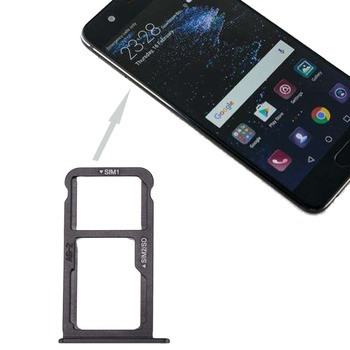 For Huawei P10 SIM Card Tray & SIM \ Micro SD Card Tray ipartsbuy sim card tray nm card tray for huawei p30