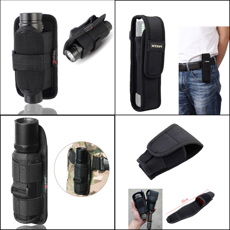 Tactical Molle Flashlight Pouch Multifunctional LED Torch Holster Case Cover Outdoor Camping Hiking Tools