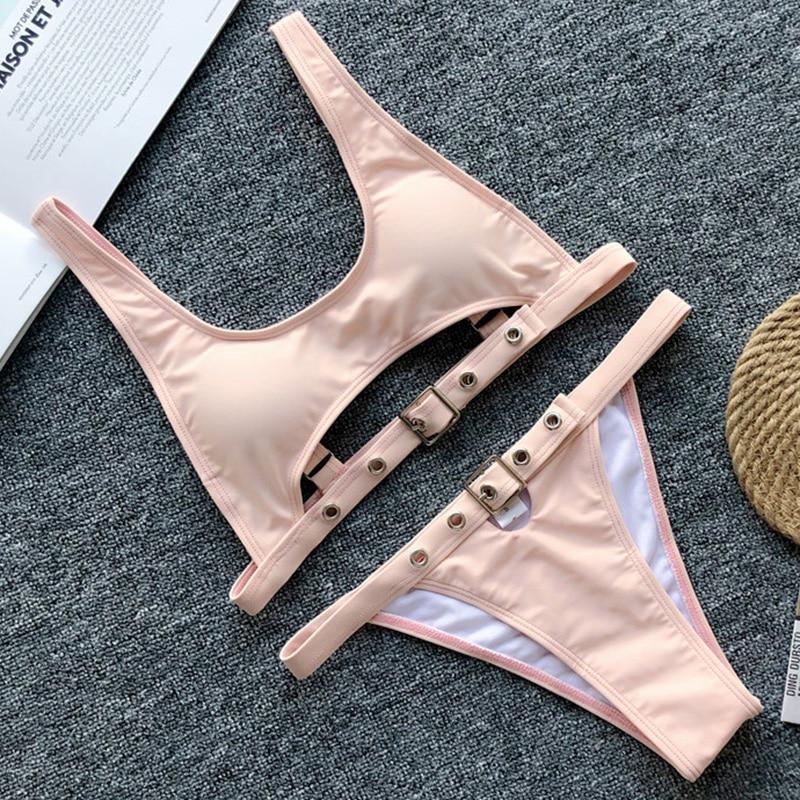 H6ea810ae59fe4e81863922b2af9a45a3H Neon Green High Waist bikini 2019 Adjust Strap Swimsuit women Thong Swimwear Female Two pieces bikini set Brazilian Bathing Suit