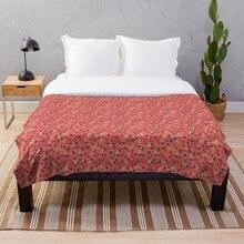 Flores de Estilo Vintage sobre círculos y arcos manta suave Sherpa manta de cama de una sola rodilla manta para siesta Oficina