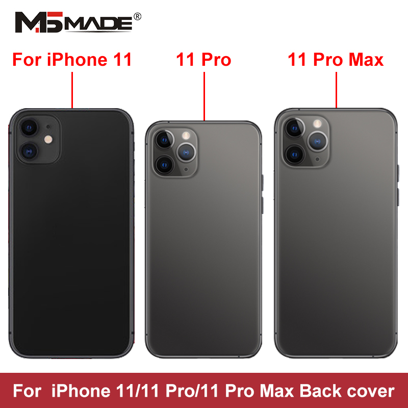 For IPhone 11 Pro Battery Back Cover Door Rear Cover + Chassis Middle Frame For IPhone 11 Pro Max Cover Full Housing Case