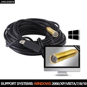 Image 1 - 14.5 مللي متر 25 متر منظار مزوّد بمنافذ USB كاميرا مقاوم للماء USB Borescope التفتيش ثعبان أنبوب كاميرا لأجهزة الكمبيوتر ويندوز ، ماك بوك OS PC