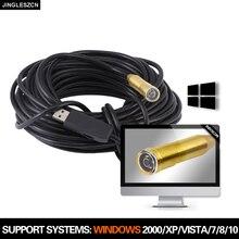 Câmera impermeável do tubo da serpente da inspeção do borescope de usb da câmera do endoscópio de 14.5mm 25 m usb para windows do pc, macbook os pc