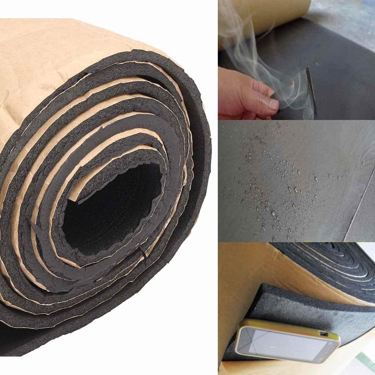 1 rouleau 200cm x 50cm 10mm/6mm/3mm voiture insonorisation amortissement voiture camion Anti-bruit isolation phonique coton chaleur cellules fermées mousse