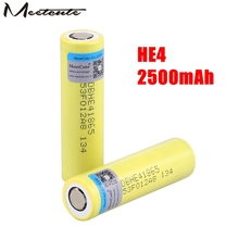 Meetcute 2500mAh Li-lon Battery HE4 18650 3.7V Power Rechargeable batteries Max 20A,35A discharge for LG For E-cigarette цены онлайн