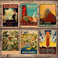 نيوزيلندا زيرمات الطيور قماش اللوحة Vintage جدار صور كرافت الملصقات المغلفة ملصقات جدار ديكور المنزل هدية طفل