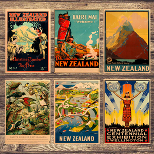 New Zealand Zermatt Birds Canvas Painting Vintage Wall Pictures Kraft Posters Coated Wall Stickers Home Decoration Kid Gift(China)