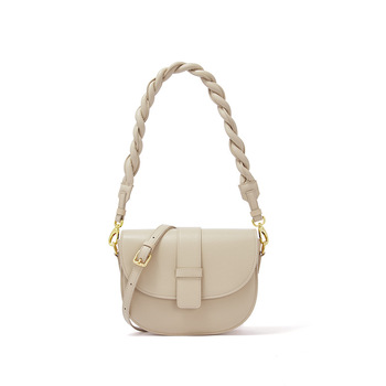 Women  Autumn White Fashion Style Cowhide Material Single Shoulder Bag Lightweight   Delicate Beautiful No. 88692