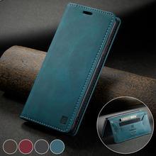 For Funda Xiaomi Redmi Note 9 Pro Max Case Vintage Flip Folio Leather Viewing Stand Wallet Cover Case Redmi Note 9S Note 10 Pro