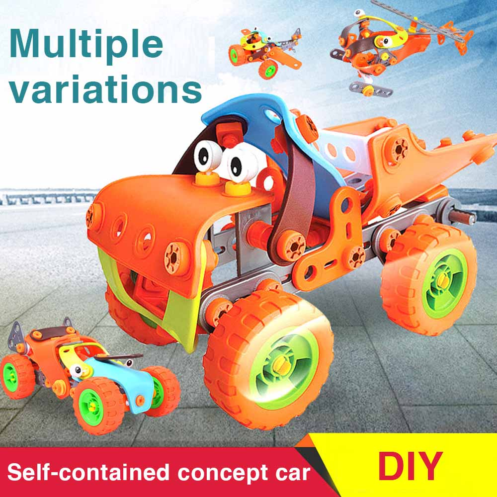 148pcs 5-1 Build&Play Toy Set | Kids STEM Educational DIY Building Kit For 5 Years Old And Above Boys Best Creative Fun Gift