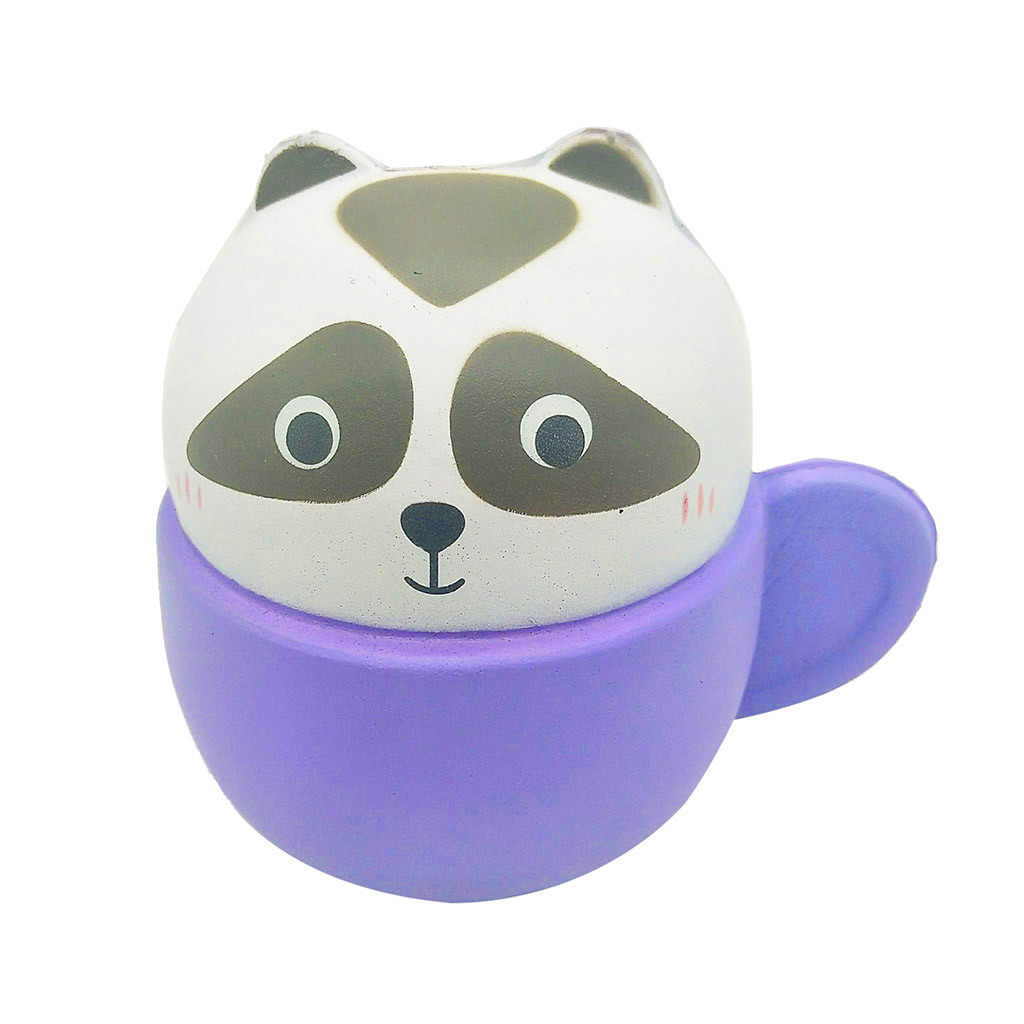 Slow Rebound And Cute Animal Cup Combination Decompression Venting Toys Antistress Gadgets Stress Relief Toy #B