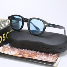 Fashion Johnny Depp Sunglasses Men Women With Case$Box Luxury Brand Designer Light Blue Sun Glasses For Male Female Oculos QF186