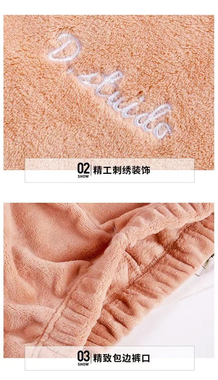Autumn Winter Warm Flannel Women Pyjamas Sets Thick Coral Velvet Long Sleeve Sleepwearannel Paiamas Set for Gir 24