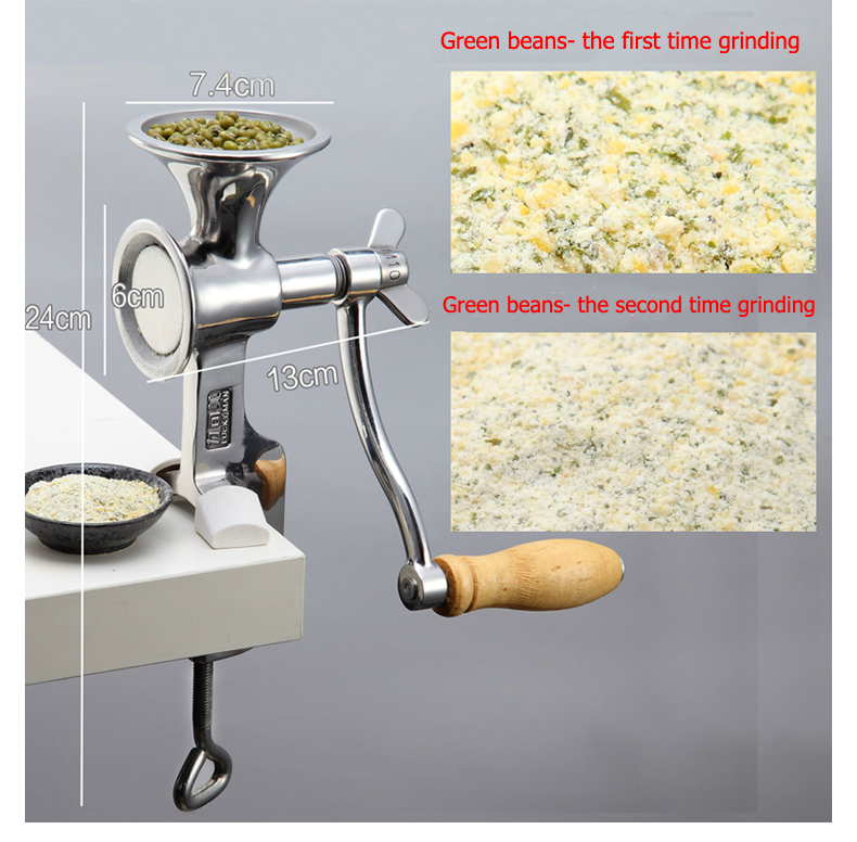 Image 2 - manual home use stainless steel dry grain seed spice mill grinder crusher-in Electric Coffee Grinders from Home Appliances