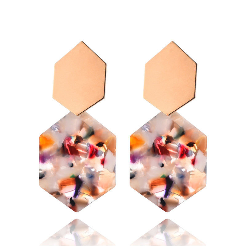 Trend 4 color women fashion colors big round earrings vintage metal statement Earrings for women jewelry