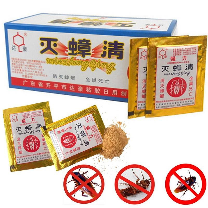 10PCS Effective Killing Cockroach Bait Powder Cockroach Repeller Insect Roach Killer Anti Pest Reject Trap Pest Control