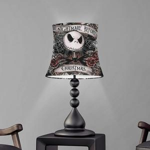 The Nightmare before Christmas Design Table Lampshade Modern Cloth Lampshade Nordic Simplicity Light Shade Washable Lampshade(China)