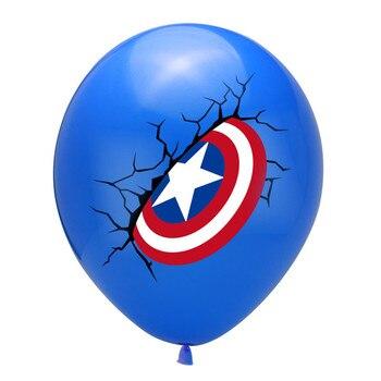10pcs Super Hero Balloon Latex Balloons Spiderman Kids Spider man Birthday Party Decoration Baby Shower Balloons 36