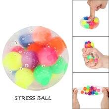Balle anti-Stress pour bureau, 2 pièces, jouet sensoriel, anti-Stress, Simple, fossette