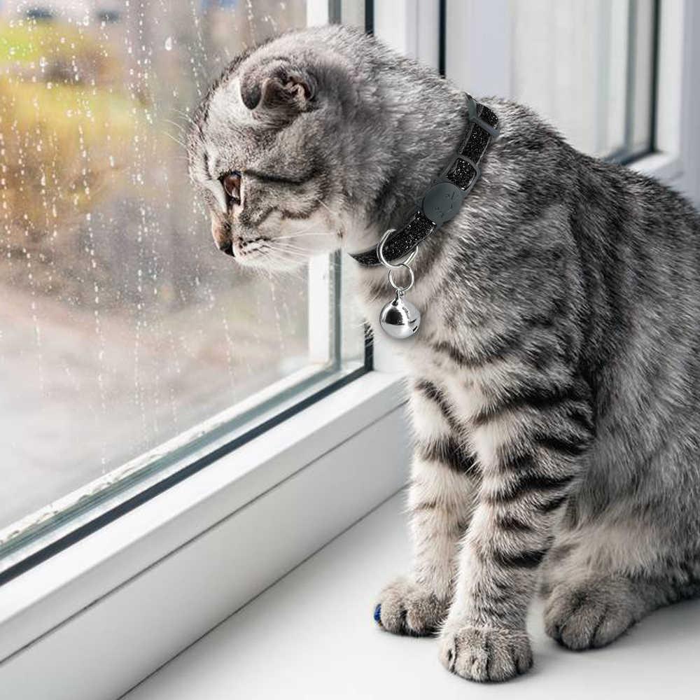 猫首輪犬の首輪猫の子猫首輪猫リーシュ子犬ソリッド調節可能な猫のためのペットリード用品