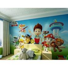 3d auto adesivo papel de parede do quarto das crianças do bebê jardim infância cão bonito dos desenhos animados tema mural à prova dwaterproof água