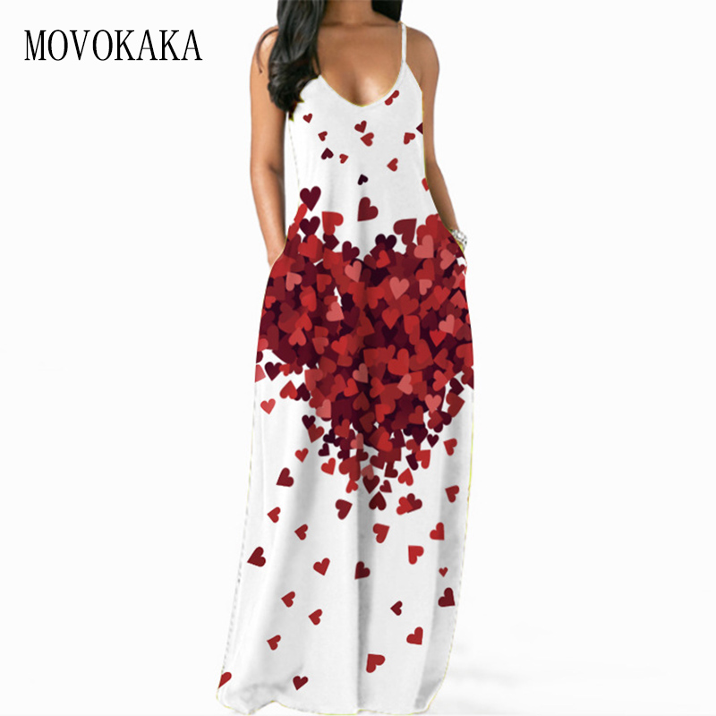 MOVOKAKA печатных белое платье на бретелях для женщин 2021 пикантные летние пляжные повседневные открытые платья без рукавов эластичные длинные ...