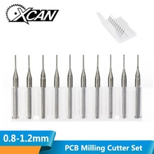 цена на 10pcs 0.6mm Carbide End Milling Engraving Edge Cutter Drill CNC PCB Router Bits Mill for Circuit Board Fiberglass