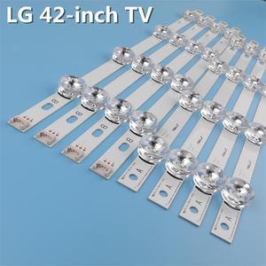 Image 4 - 8 stücke x Led hintergrundbeleuchtung Lampe Objektiv streifen für LG 42LY320C LC420DUE INNOTEK DRT 3,0 42 inch TV 42LB5610 42GB6310 LCD Monitor