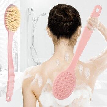 Bath Brush Back Body Bath Shower Sponge Scrubber Brushes with Handle Exfoliating Scrub Skin Massager Exfoliation Bathroom Brush 1