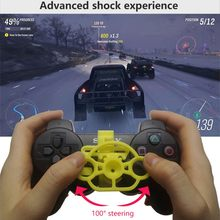 New PC Computer Racing Game Controller For PS4 PS3 Wireless Gamepad Joysticker Steering Wheel Steering wheel Simulation Driver(China)
